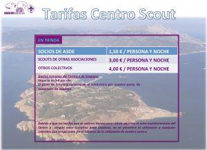 tarifa centro scout web
